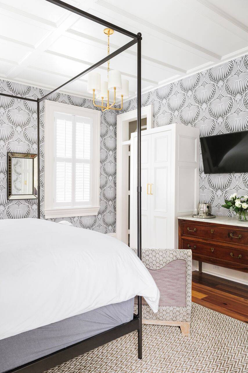 Guest room wall paper ideas b berry interiors