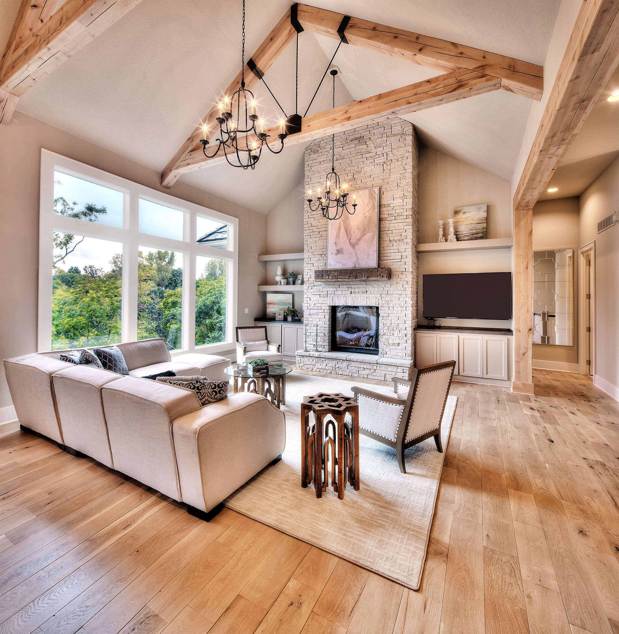 A Large Living Room To Socialise In: Hearthroom: Hardwood Floors, Large Windows, Open Concept