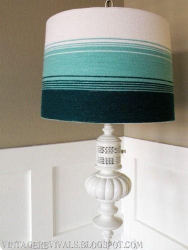 Jazz Up A Basic Lamp Shade With A Diy Flourish Diy Lamp Shade