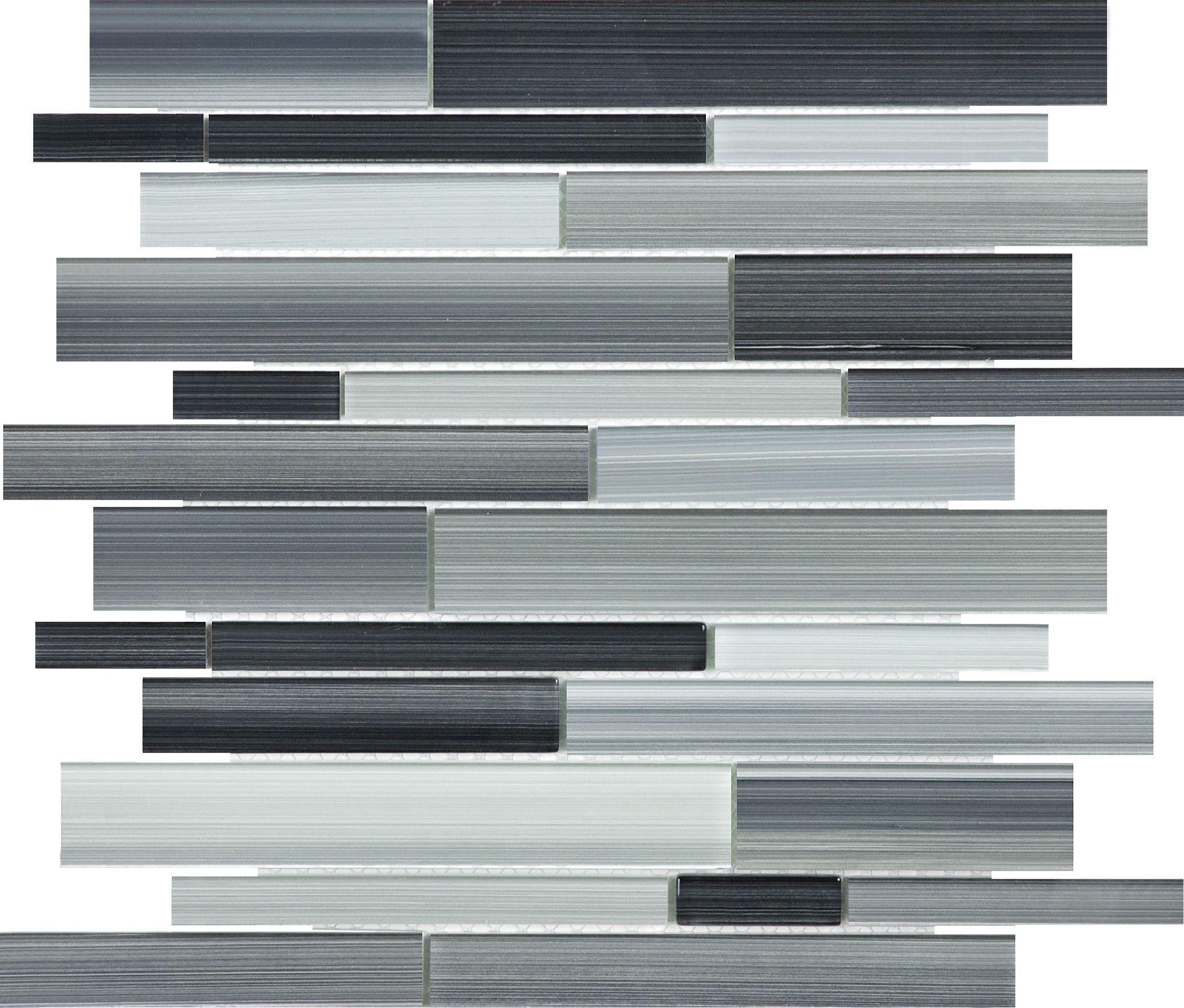 Fusion Carbon Random Strip Glass Mosaic