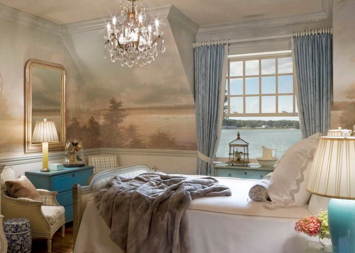 Master Bedroom Murals classical master bedroom with italian wall mural | inspirations