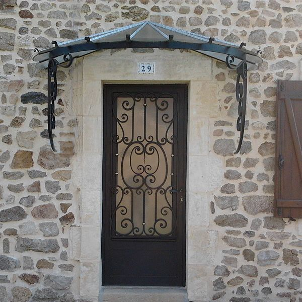 Porte d 39 entr e vitr e reignoux creations decofinder - Marquise de porte d entree castorama ...