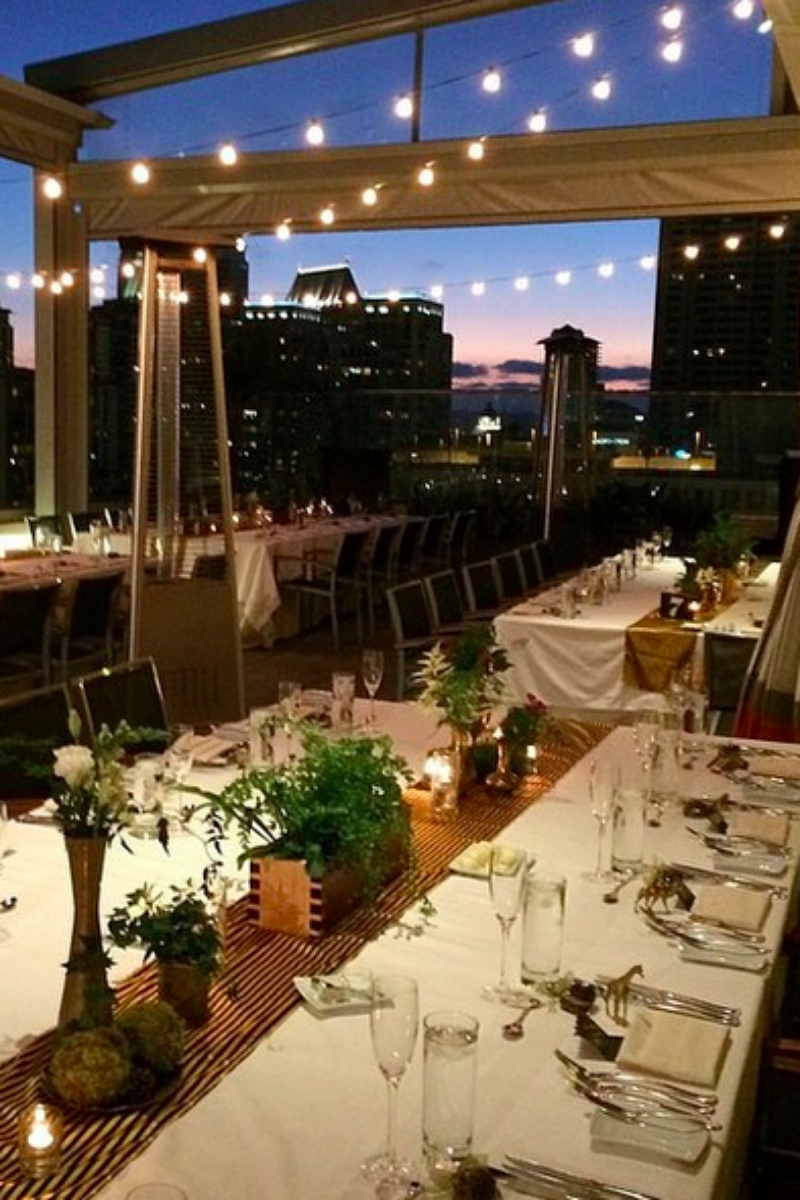beautiful wedding locations in southern california%0A Andaz San Diego   Rooftop   Wedding   Reception