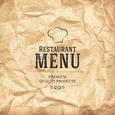 Vektor Restaurant menu design Menu Design Pinterest