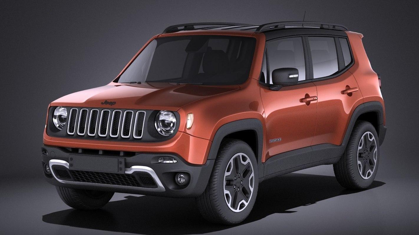 Jeep Renegade 2017 VRAY 3D Model AD ,RenegadeJeepModel