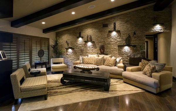 Stone Wall Tile Design Accent
