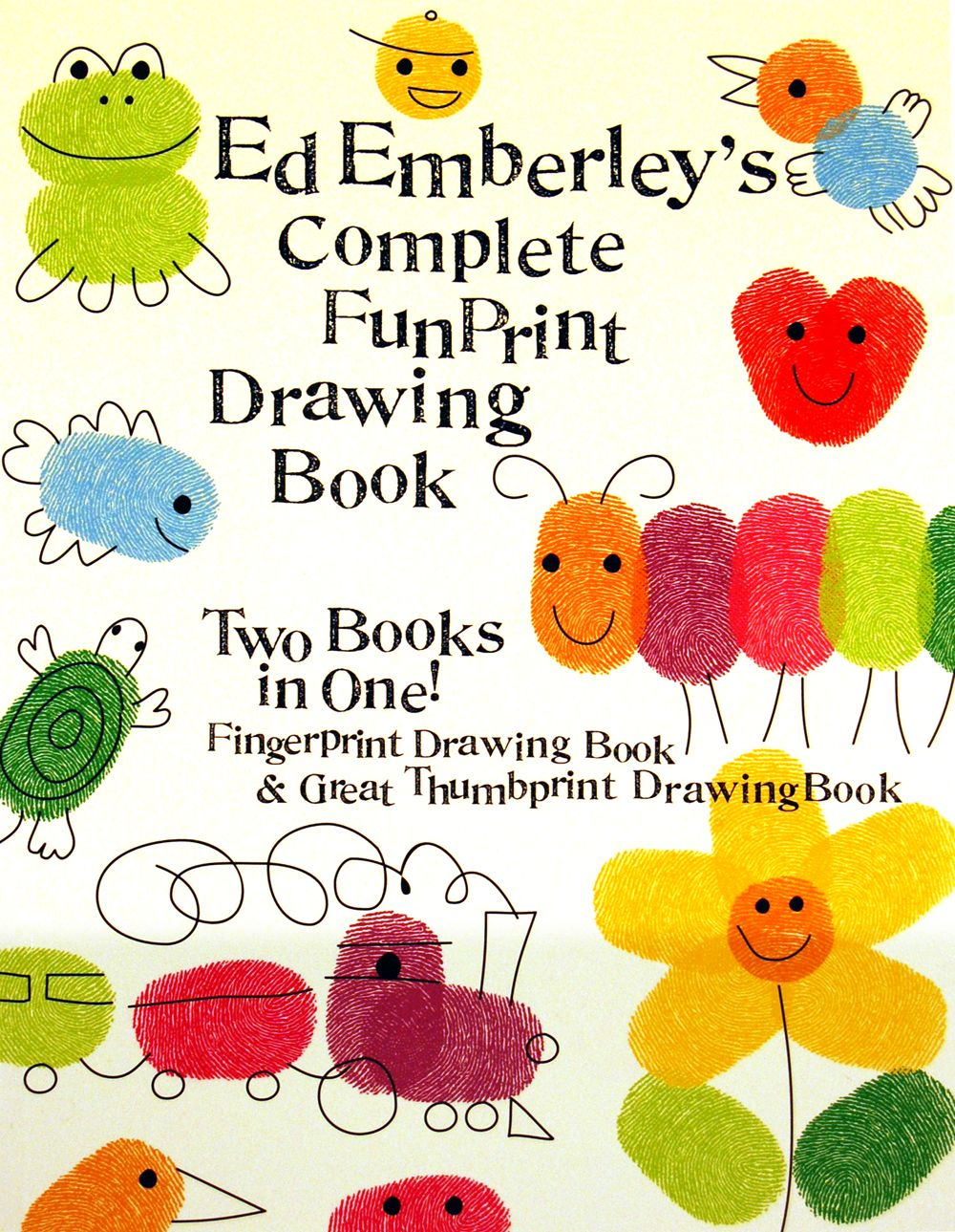 Such a quality, creative book.  Making cool stuff out of fingerprints, fun to do together with the kids.