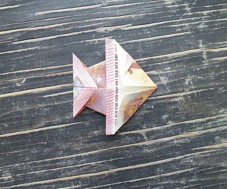 Fisch Falten Aus Geldschein Einfache Anleitung Origami