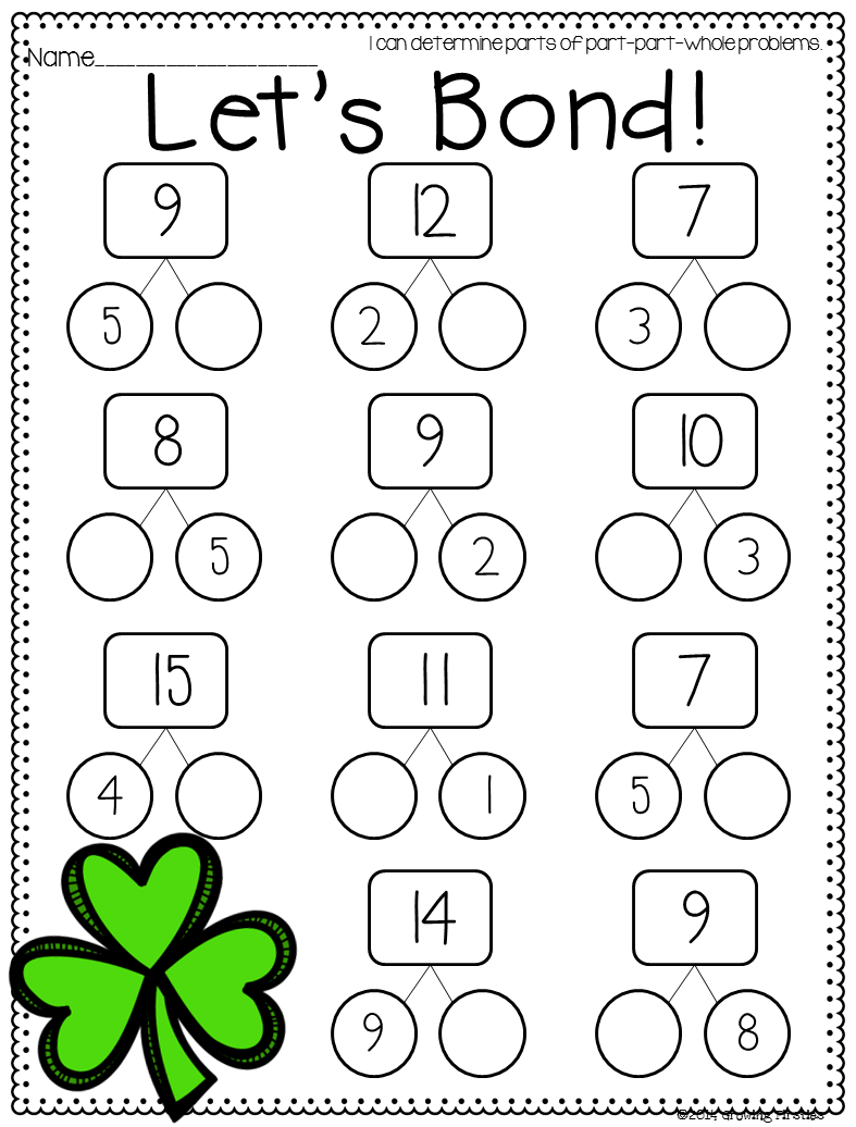 Part Part Whole and March Printables | First grade math ...