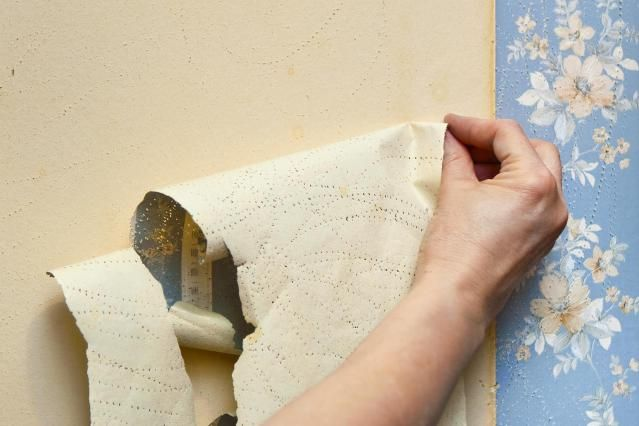 Perfect How To Remove Old Wallpaper And Borders   We Used A Spray Bottle Of Hot  Water