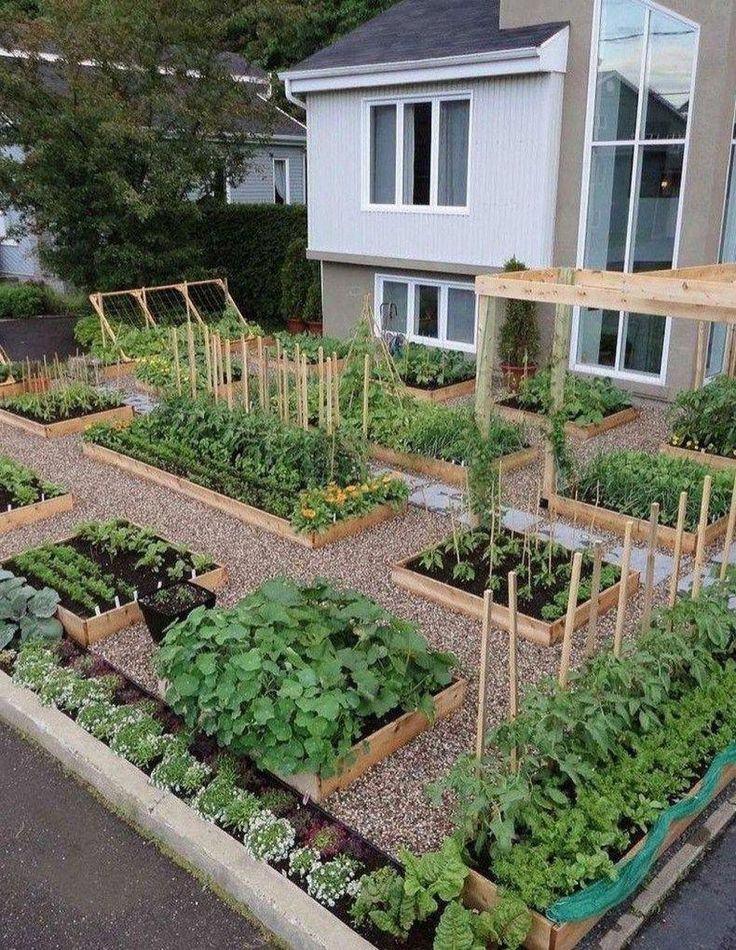 Awesome Raised Garden Bed Ideas For Backyard Landscaping 51 #backyardlandscaping