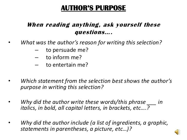 Author 39 S Purpose Worksheet 4th Grade Google Search