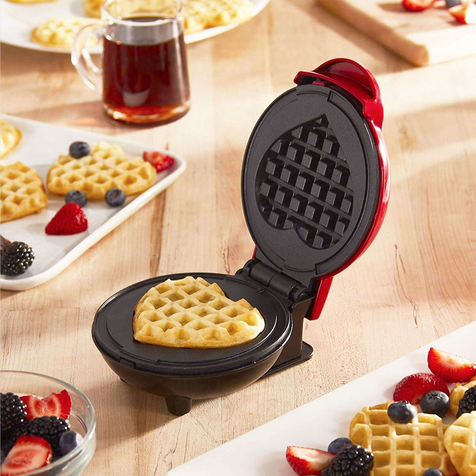 People Are Saying This 12 Mini Waffle Maker Is The Best Thing They Ve Bought On Amazon In 2020 Heart Shaped Waffle Maker Waffle Maker Reviews Waffles Maker