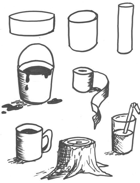 how to draw a spherical shape