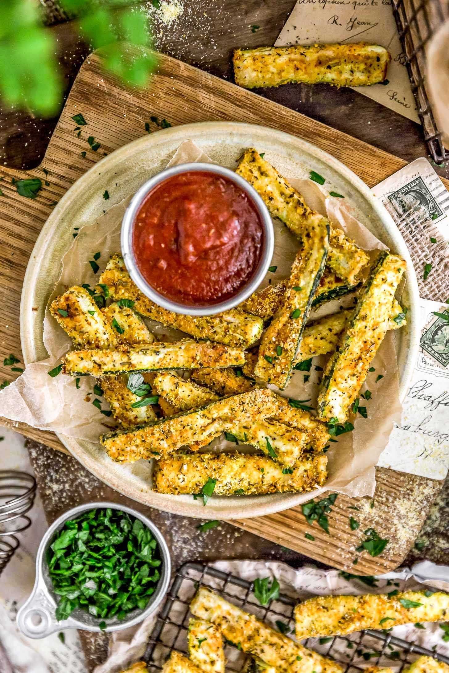 Photo of Italian Baked Zucchini Fries – Monkey and Me Kitchen Adventures