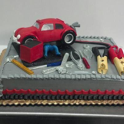 Mechanic cake wtruck instead of car wedding Pinterest Cake