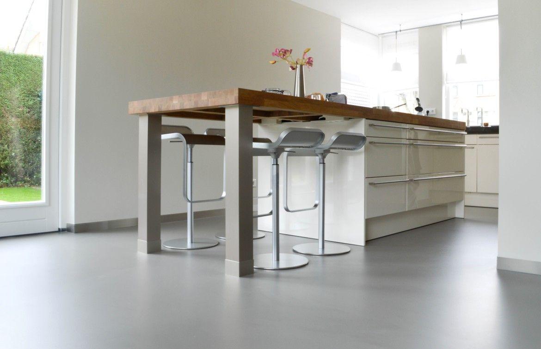 Rustieke Woonkeuken Gietvloer : Gietvloer in de keuken kitchen keuken huis ideeën