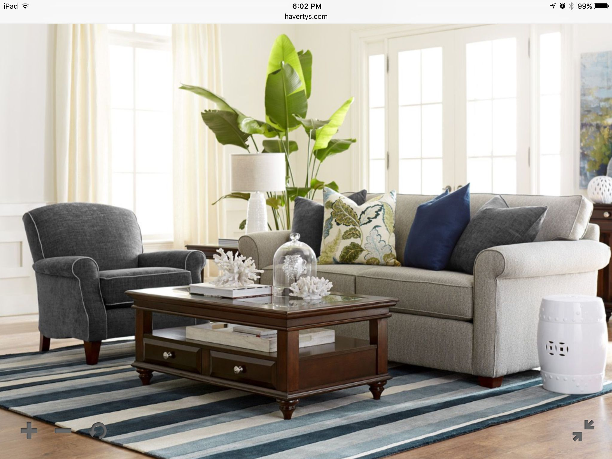 Haverty's sofa - Avery in fog. | Living room sets, Outdoor ... on Patio Living Room Set id=15380