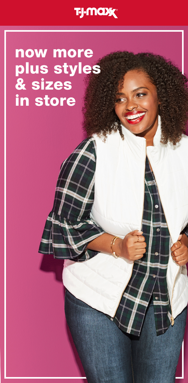 542746ca91506 Head to your local T.J.Maxx and shop our extended plus size selection  today. With must-have brands at must-buy prices