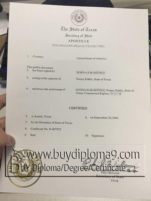 texas Apostille certificate, Buy diploma, buy college diploma,buy - resume high school diploma