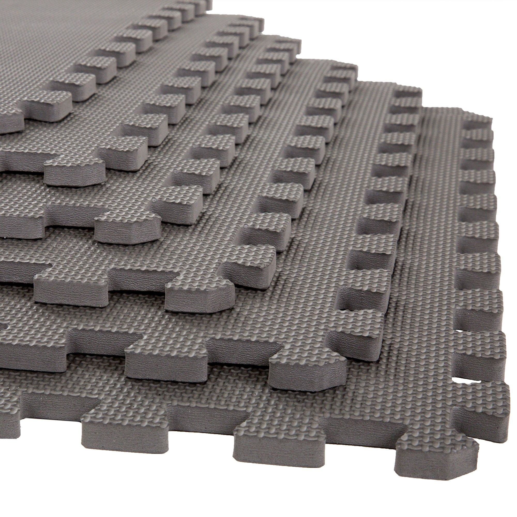 Stalwart 6pk Foam Mat Floor Tiles With Interlocking Eva Foam Padding Gray Foam Mat Flooring Foam Flooring Soft Flooring