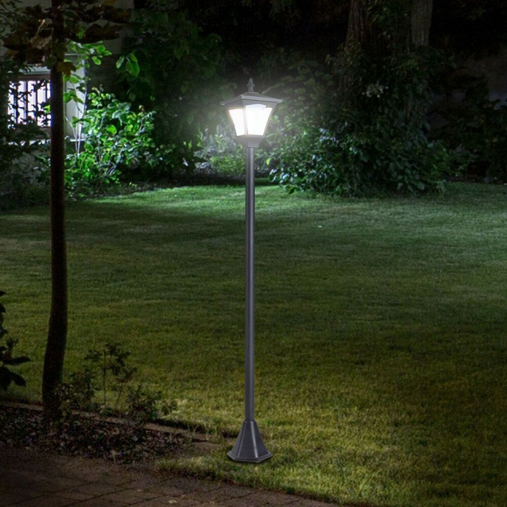 Single Solar Lamp Post Outdoor Column Path Light Patio Garden Victorian Decor G Column Decor Garden Lamp In 2020 Solar Lamp Post Solar Lights Garden Solar Lamp