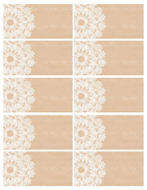 Rustic favor tags - wedding printable - Lace Doily wedding favor ...