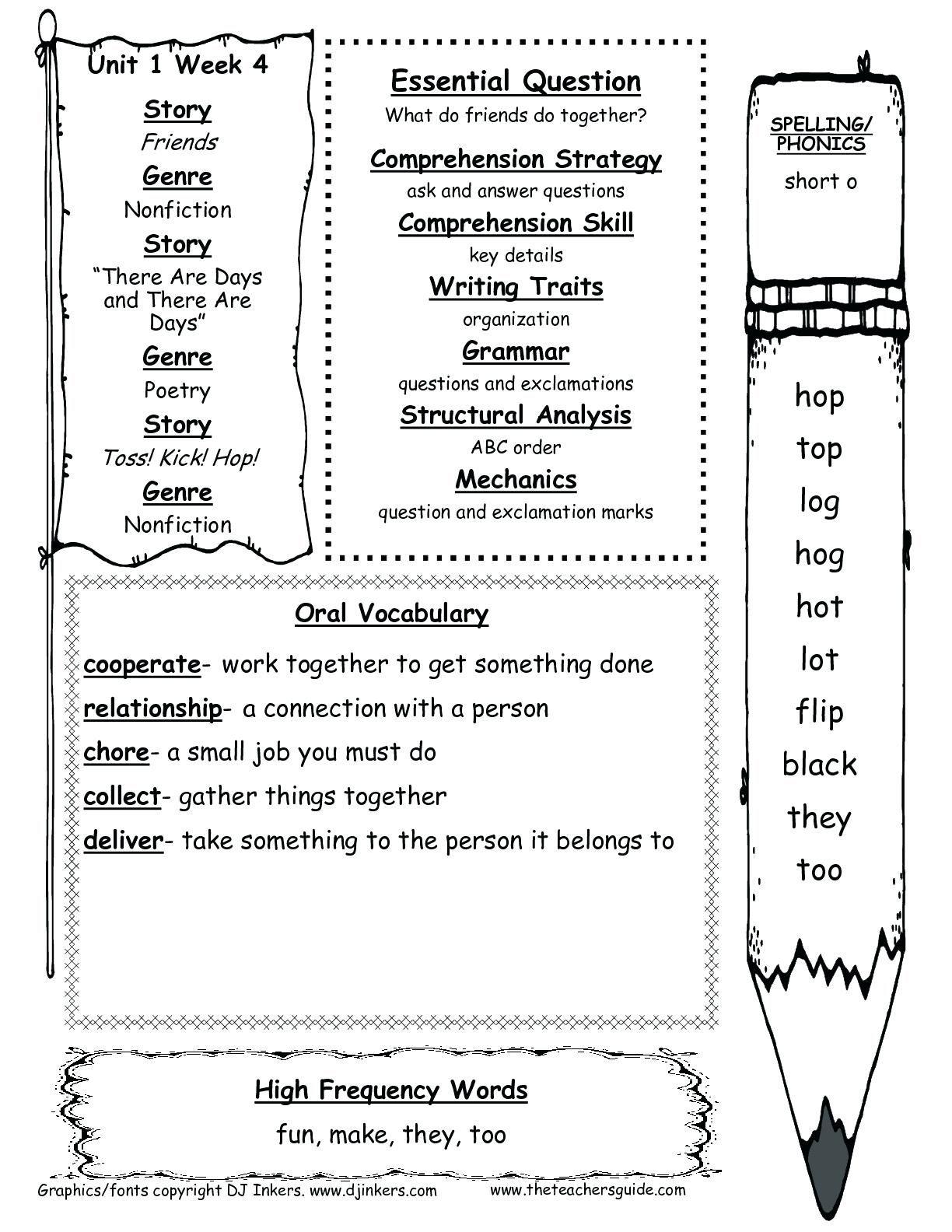 1st Grade Reading Comprehension Worksheet