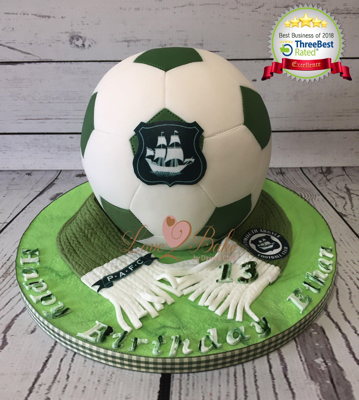 Plymouth Argyle Football Cake By Love2bake April 2018 Football
