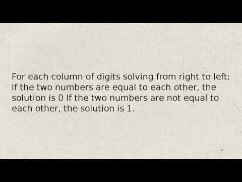 How To apply logical operators to binary numbers