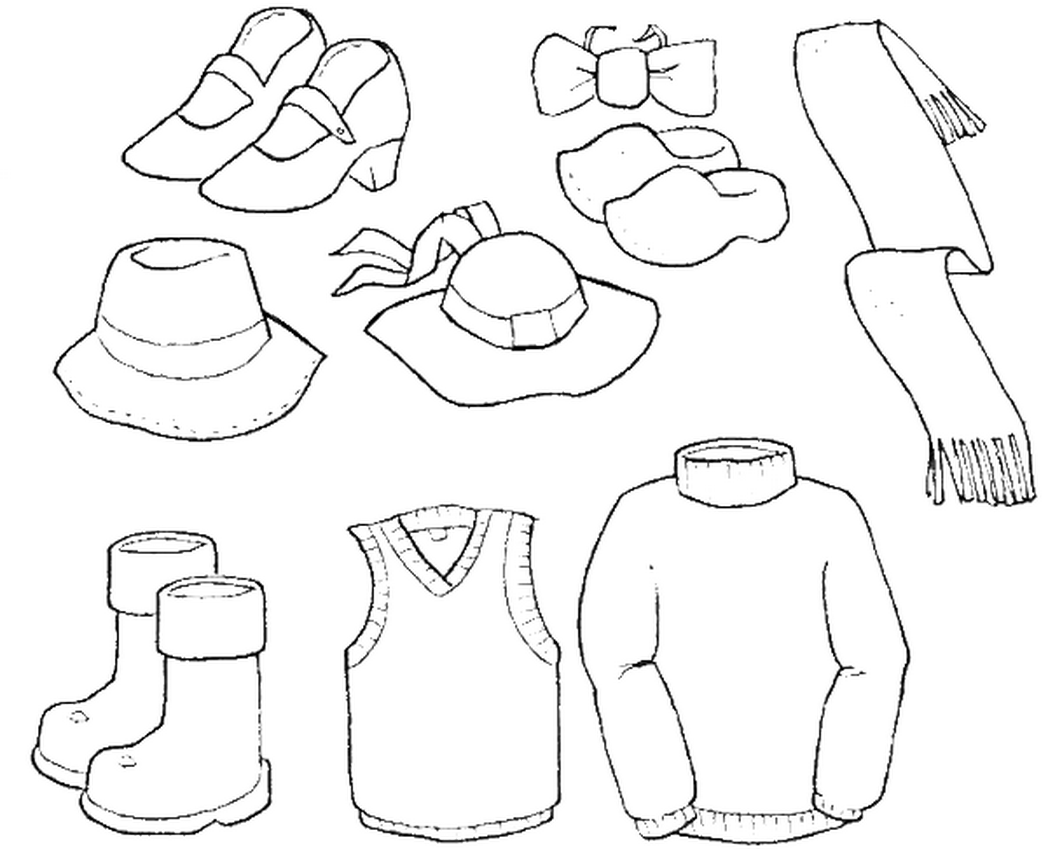 Winter Clothes Coloring Page Disegni Vestito Vestiti Da Bambini Disegni Da Colorare