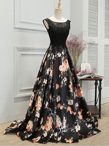 Long Black Prom Dresses Appliques Lace Sexy Prom Dressevening Dress
