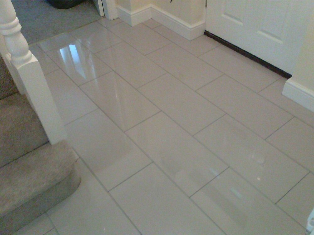 Cream Porcelain Tiled Flooring Laid In Hallway Make Your Home