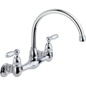 Peerless P299305lf Choice Two Handle Wall Mounted Kitchen Faucet Chrome Amazon Com 54 28 L Wall Mount Kitchen Faucet High Arc Kitchen Faucet Kitchen Faucet