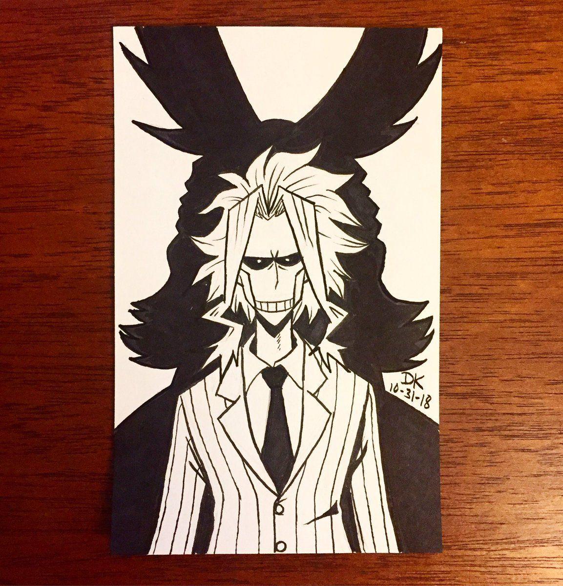 Photo of My Hero Inktober DAY 31: All Might/Toshinori Yagi… –                    Dennis K. Draws