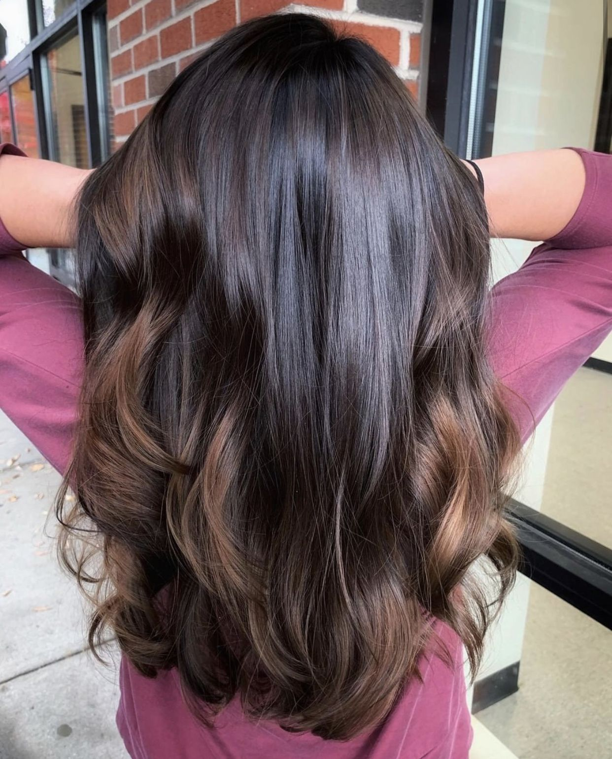 Brunette Long Lush Hair Shades Of Brunette Long Hair Styles Hair