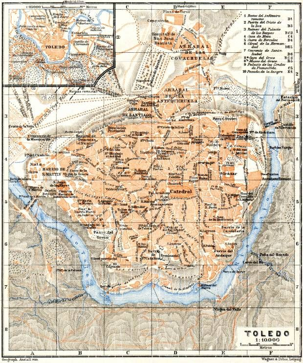 Image result for toledo spain historic map metropolis project