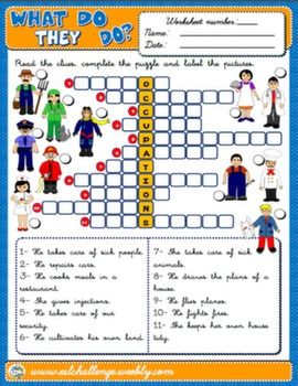 Jobs and Occupations Worksheet | Places to Visit | English ...