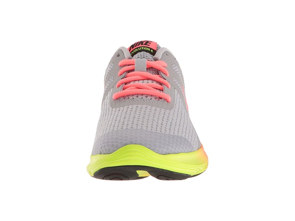 38a7b9fe3abf Nike Kids Revolution 4 Fade (Big Kid) Girls Shoes Wolf Grey Hot  Punch Volt Black