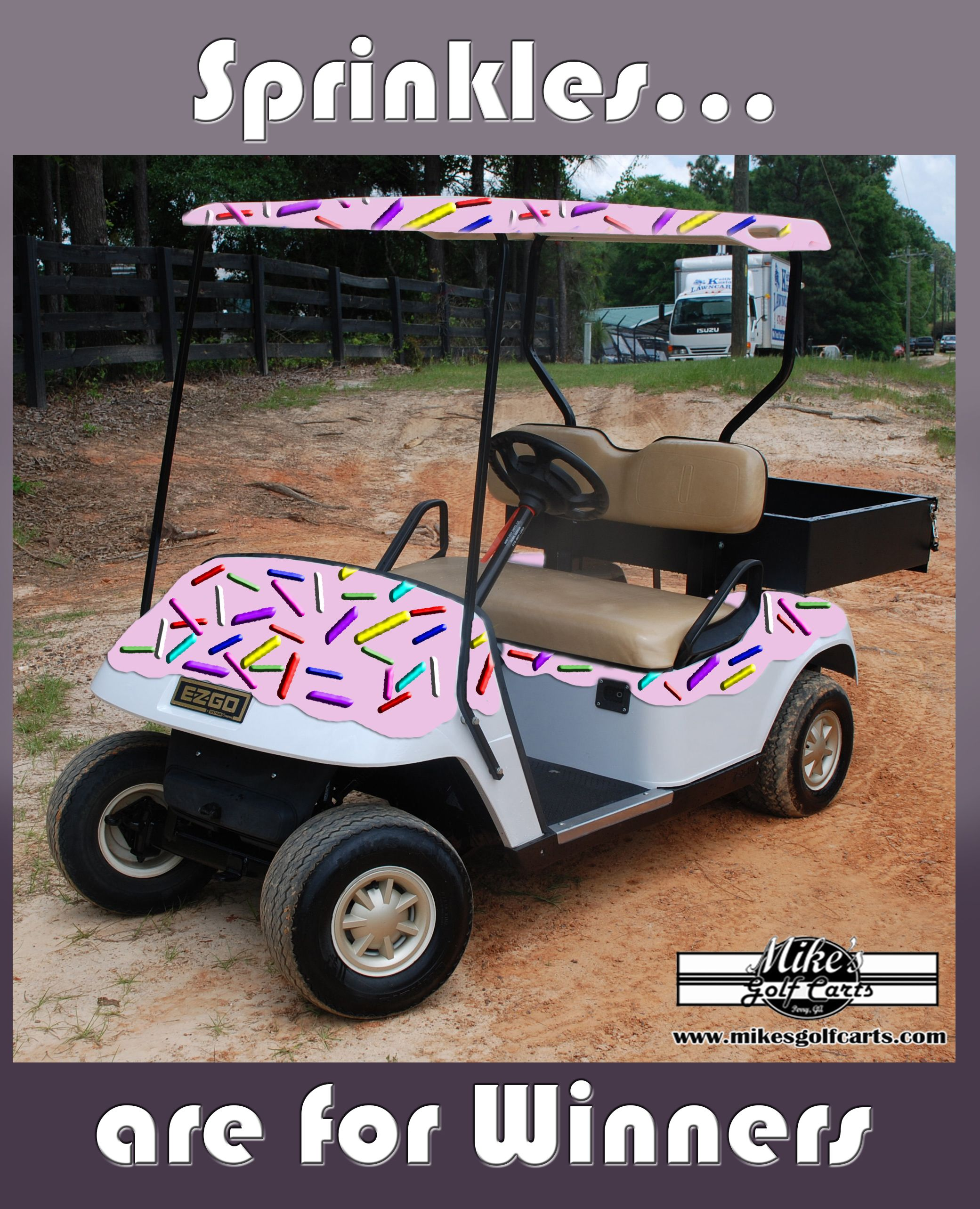 Sprinkles Are For Winners Golf Cart Golfcarts