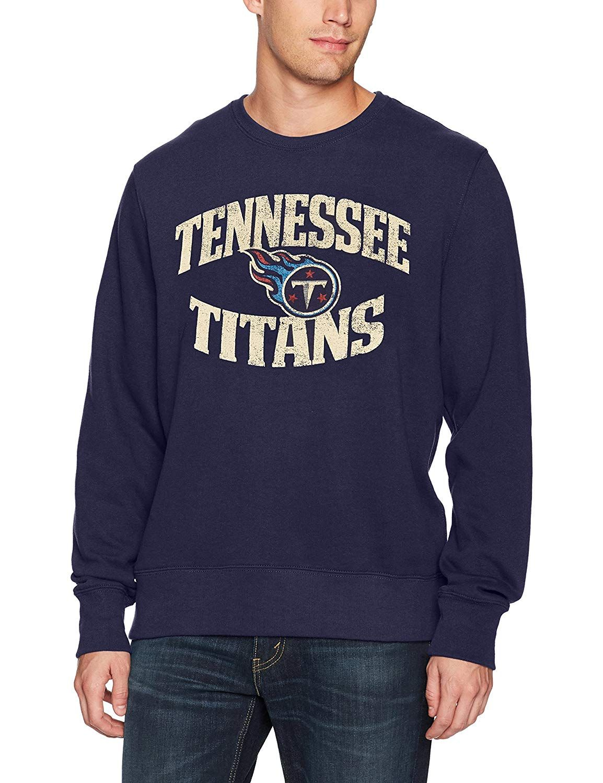 7bf52c7c Amazon.com : OTS NFL Adult Men's Fleece Crew Distressed : Sports ...