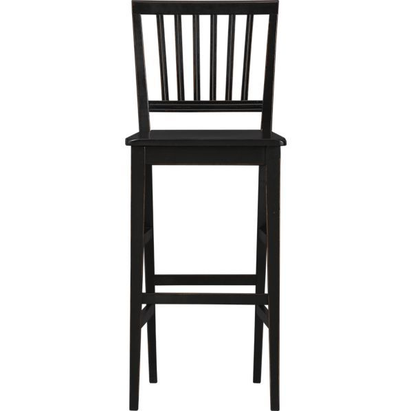Village Black 30 Barstool In Barstools Crate And Barrel Black
