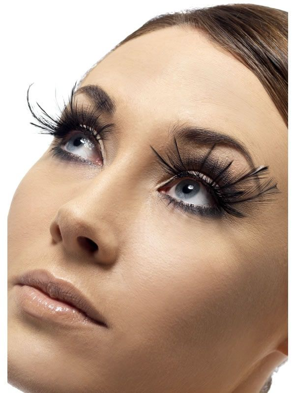 More Excessive Fake Eyelashes Trim So They Flare On The Outside Of Eyes