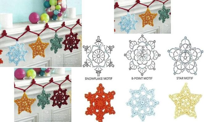 copo de nieve ganchillo patrón - Google Search