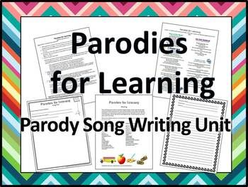 writing a song parody lesson plan