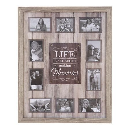 Life Is About Making Memories Collage Frame With Images Memory
