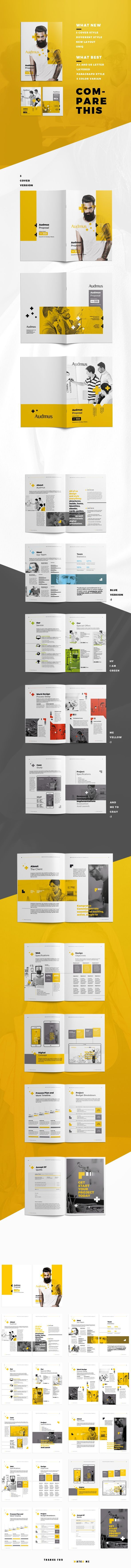 Business Infographic  Business Proposal A Brand Brief Brochure