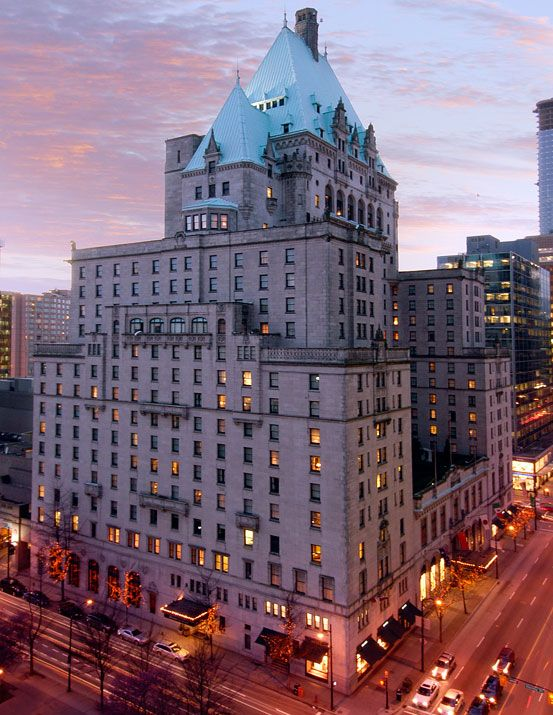 Hotel Vancouver British Columbia Canada A Stop On Our Honeymoon