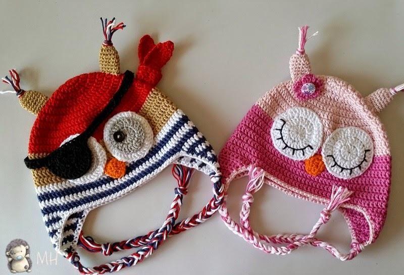 Gorro Búho Pirata A Crochet, Patrón Gratis | Cosas que me encantan ...