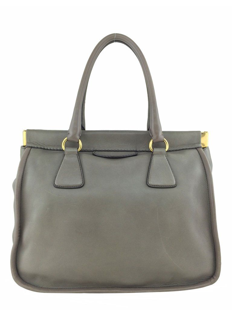 a85666f33171af ... sale prada soft calf leather framed tote bag 4730c 70873